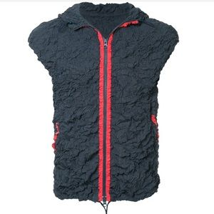 ISSEY MIYAKE creased hooded vest. Immaculate!!